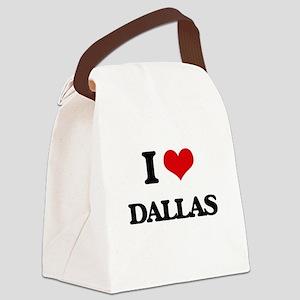 I Love Dallas Canvas Lunch Bag