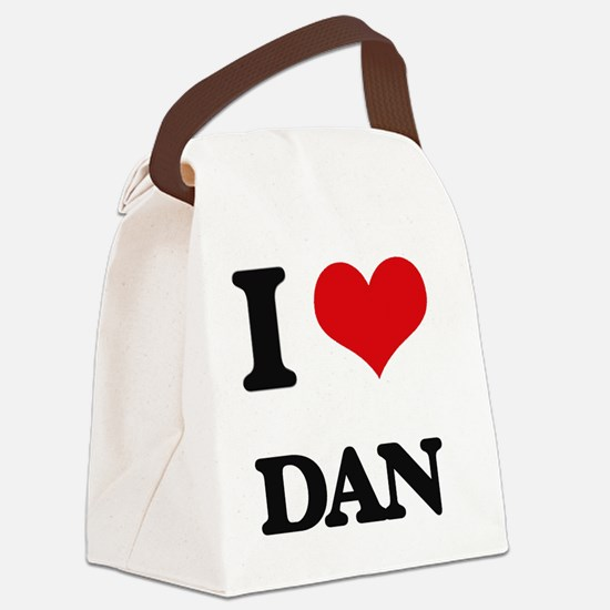 Unique I heart dan Canvas Lunch Bag
