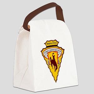 USS CHEYENNE Canvas Lunch Bag
