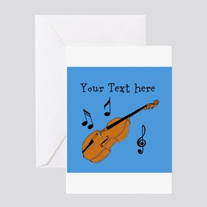 Customizable Violin Design Greeting Cards