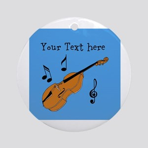 Customizable Violin Design Ornament (Round)