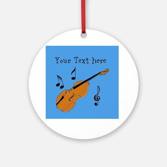 Customizable Violin Design Ornament (Round)
