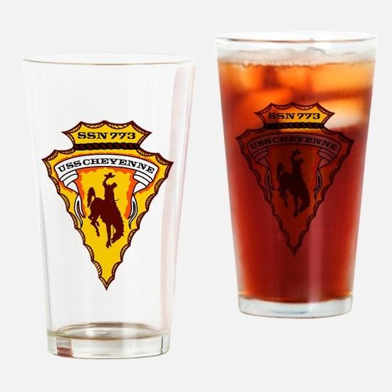 USS CHEYENNE Drinking Glass