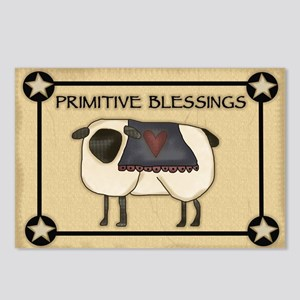 Primitive Blessings Postcards (Package of 8)