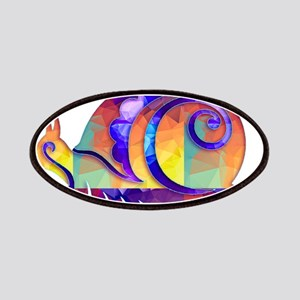 Polygon Mosaic Snail Multicolored Patches