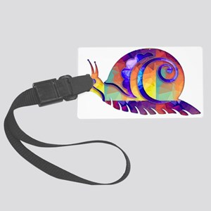Polygon Mosaic Snail Multicolore Large Luggage Tag