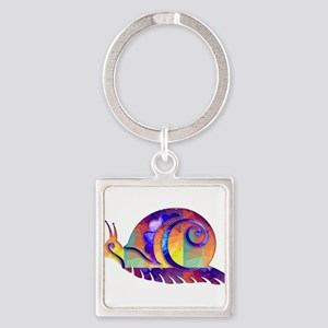 Polygon Mosaic Snail Multicolored Keychains