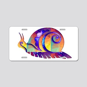 Polygon Mosaic Snail Multic Aluminum License Plate