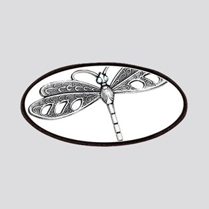 Metallic Silver Dragonfly Patches
