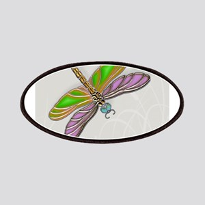 Purple Green Dragonfly in Reeds Patches