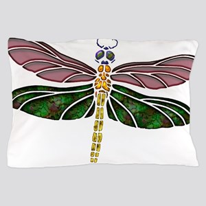 sTAINED gLASS Dragonfly Pillow Case