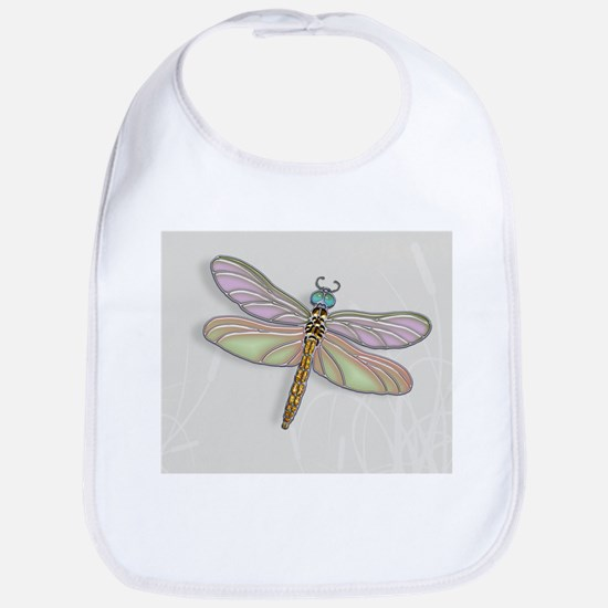Lavender and Light Green Dragonfly Bib