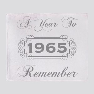 1965 A Year To Remember Throw Blanket