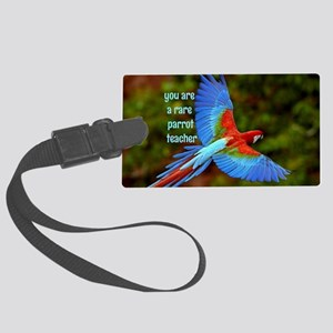 Parrot Teacher Large Luggage Tag