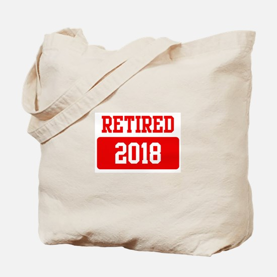 Retired 2018 (red) Tote Bag