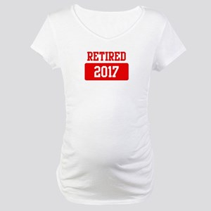 Retired 2017 (red) Maternity T-Shirt