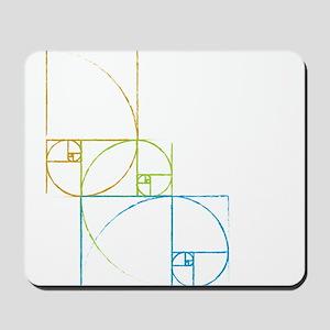 Fibonacci Spirals Mousepad