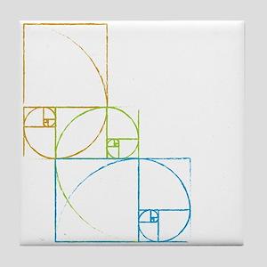 Fibonacci Spirals Tile Coaster