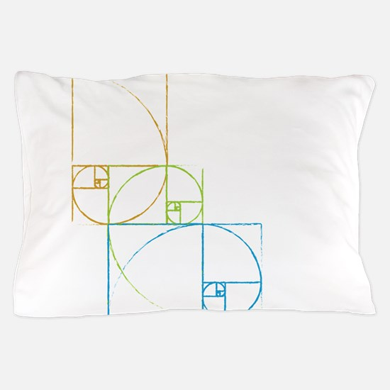 Fibonacci Spirals Pillow Case