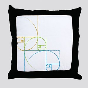 Fibonacci Spirals Throw Pillow