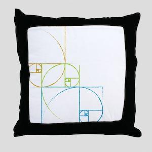 Fibonacci Spirals Throw Pillow