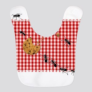 Ant Picnic on Red Checkered Cloth Bib