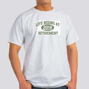 Life begins 2018 Light T-Shirt