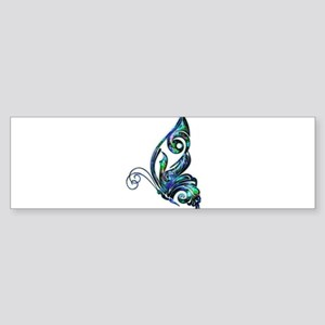 Abalone Shell Art Deco Butterfly Bumper Sticker