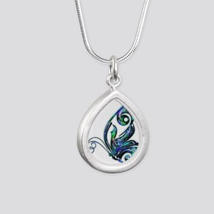 Abalone Shell Art Deco Butterfly Necklaces