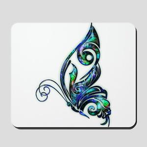 Abalone Shell Art Deco Butterfly Mousepad