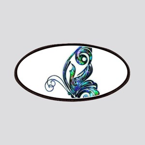 Abalone Shell Art Deco Butterfly Patches