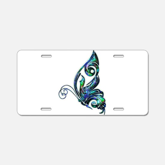 Abalone Shell Art Deco Butt Aluminum License Plate