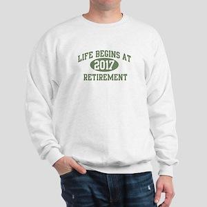 Life begins 2017 Sweatshirt