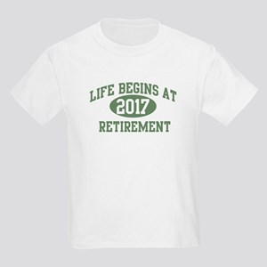 Life begins 2017 Kids Light T-Shirt
