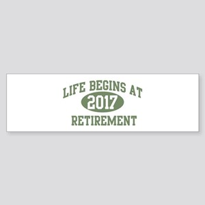 Life begins 2017 Bumper Sticker