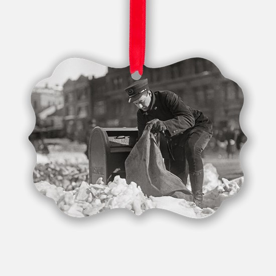 Mailman in the Snow, 1922 Ornament