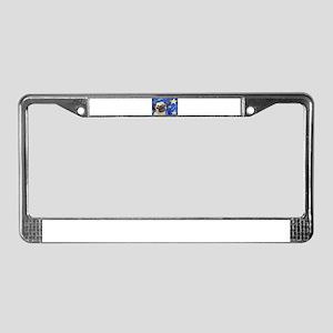 Pug Stars 2 License Plate Frame