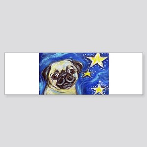 Pug Stars 2 Bumper Sticker