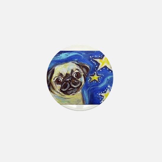 Pug Stars 2 Mini Button
