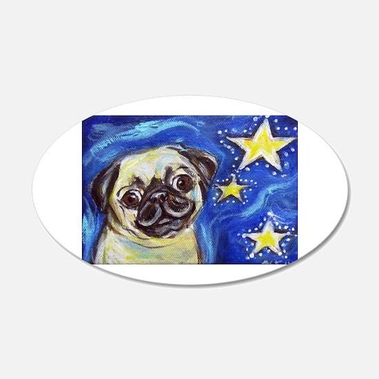 Pug Stars 2 Wall Decal