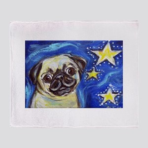 Pug Stars 2 Throw Blanket