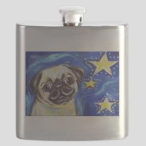 Pug Stars 2 Flask