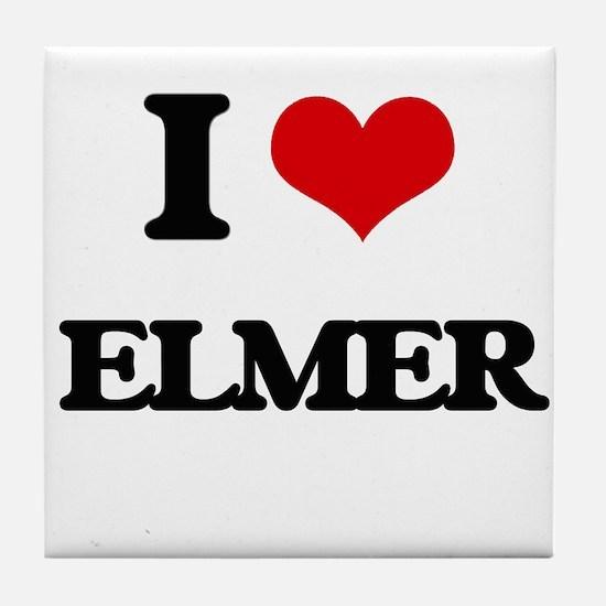 I Love Elmer Tile Coaster