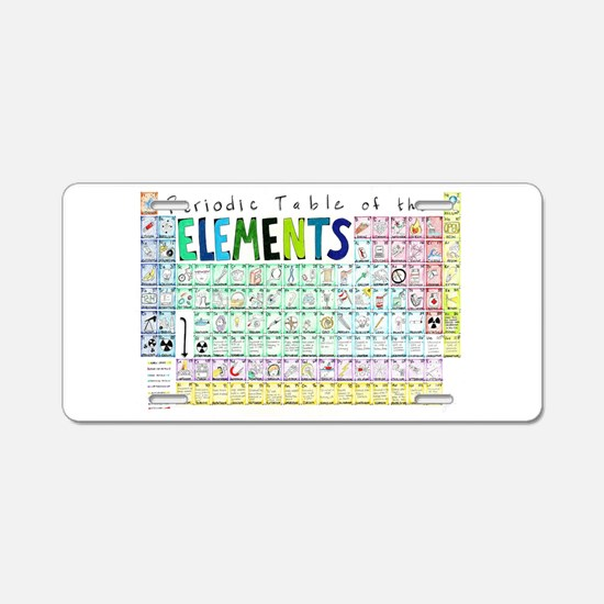 Kids periodic table license plates kids periodic table front periodic table of elements aluminum license plate urtaz Gallery
