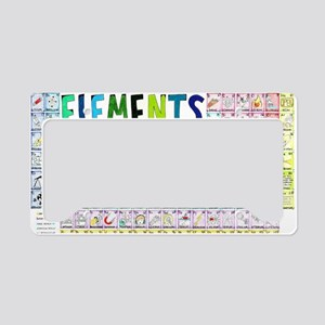 Periodic Table of Elements License Plate Holder
