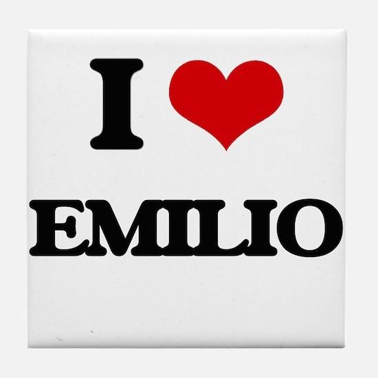 I Love Emilio Tile Coaster