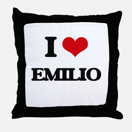 I Love Emilio Throw Pillow