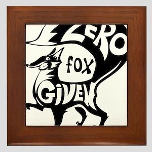 Zero Fox Given Framed Tile
