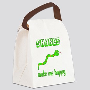 Snakes Make Me Happy Canvas Lunch Bag