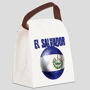 Futbol de El Salvador Canvas Lunch Bag